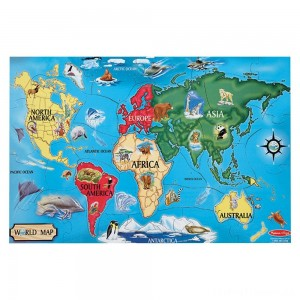 Melissa And Doug World Map Jumbo Floor Puzzle 33pc Clearance Sale