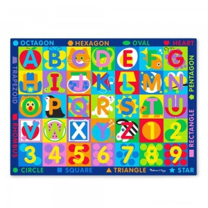Melissa & Doug Jumbo ABC-123 Rug, Kids Unisex Clearance Sale