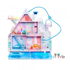 L.O.L. Surprise! Winter Disco Chalet Doll House with 95+ Surprises Clearance Sale