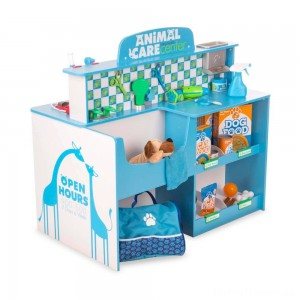 Melissa & Doug Animal Care Veterinarian and Groomer Wooden Activity Center Clearance Sale