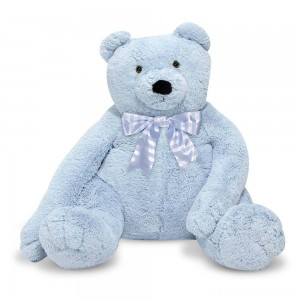 Melissa & Doug Jumbo 2' Teddy Bear - Blue Clearance Sale