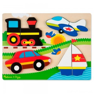 Melissa & Doug Chunky Jigsaw Puzzle - Vehicles 20pc Clearance Sale