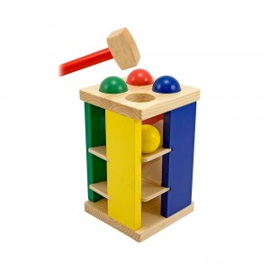Melissa & Doug Deluxe Pound and Roll Wooden Tower Toy With Hammer Clearance Sale