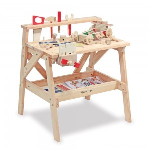 Melissa & Doug Solid Wood Project Workbench Play Building Set Clearance Sale