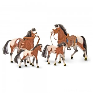 Melissa & Doug Horse Family With 4 Collectible Horses Clearance Sale