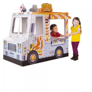 Melissa & Doug Food Truck Indoor Corrugate Playhouse (Over 4' Long) Clearance Sale