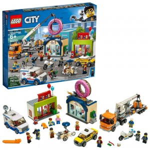 LEGO City Donut Shop Opening 60233 Store Opening Build and Play with Toy Vehicles and City Minifigures Clearance Sale