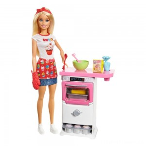 Barbie Careers Bakery Chef Doll and Playset Clearance Sale