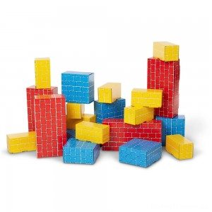 Melissa & Doug Extra-Thick Cardboard Building Blocks - 24 Blocks in 3 Sizes Clearance Sale