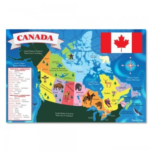 Melissa And Doug Canada Map Jumbo Floor Puzzle 48pc Clearance Sale