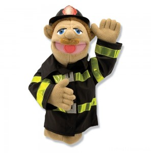 Melissa & Doug Firefighter Puppet With Detachable Wooden Rod Clearance Sale