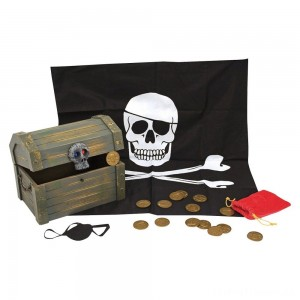 Melissa & Doug Wooden Pirate Chest Pretend Play Set Clearance Sale