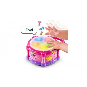 Learn & Groove™ Color Bilingual Play Drum - Online Exclusive Pink Ages 6-36 months Clearance Sale