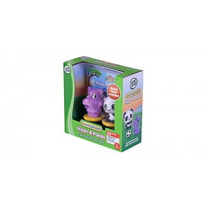 Learning Friends™ Hippo & Panda Figure Set with Board Book Ages 2-5 yrs. Clearance Sale