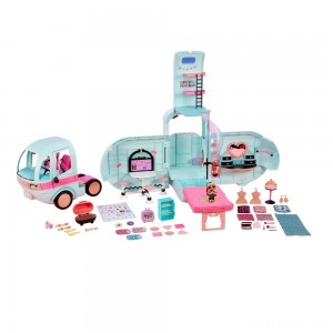 L.O.L. Surprise! 2-in-1 Glamper Fashion Camper with 55+ Surprises Clearance Sale