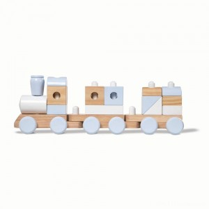 Melissa & Doug Wooden Jumbo Stacking Train - Natural Clearance Sale