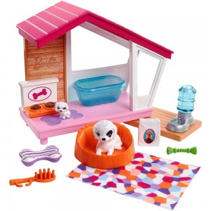 Barbie Dog House Playset, doll accessories Clearance Sale
