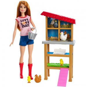 Barbie Chicken Farmer Doll & Playset Clearance Sale