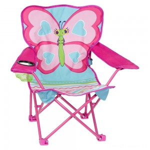 Melissa & Doug Sunny Patch Cutie Pie Butterfly Folding Lawn and Camping Chair Clearance Sale