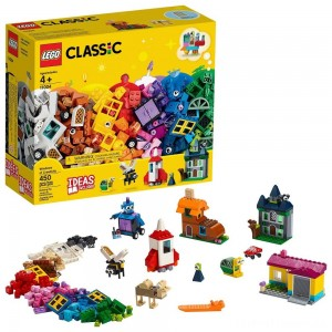LEGO Classic Windows of Creativity 11004 Building Kit with Toy Doors for Creative Play 450pc Clearance Sale