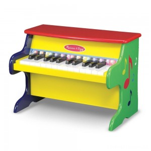 Melissa & Doug Learn-To-Play Piano With 25 Keys and Color-Coded Songbook Clearance Sale