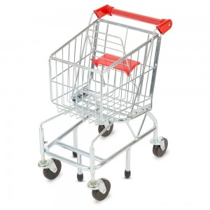Melissa & Doug Toy Shopping Cart With Sturdy Metal Frame Clearance Sale