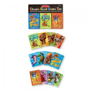 Melissa & Doug Classic Card Games Set - Old Maid, Go Fish, Rummy Clearance Sale
