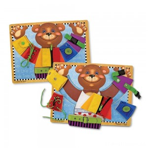 Melissa & Doug Basic Skills Board and Puzzle - Wooden Educational Toy Clearance Sale