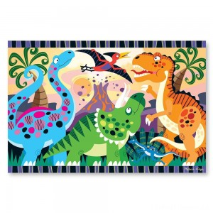 Melissa & Doug Dinosaur Dawn Jumbo Jigsaw Floor Puzzle (24pc, 2 x 3 feet) Clearance Sale