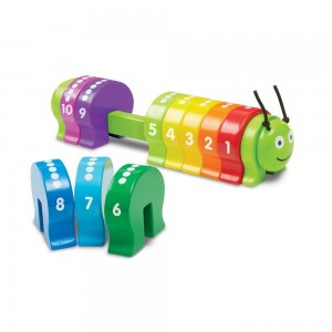 Melissa & Doug Counting Caterpillar - Classic Wooden Toy With 10 Colorful Numbered Segments Clearance Sale