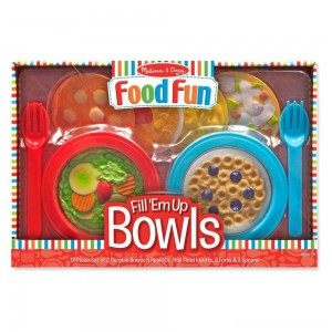 Melissa & Doug Create-A-Meal Fill Em Up Bowls (12pc) - Play Food and Kitchen Accessories Clearance Sale