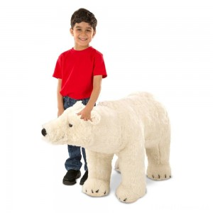 Melissa & Doug Giant Polar Bear - Lifelike Stuffed Animal (nearly 3 feet long) Clearance Sale