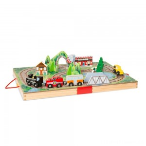Melissa & Doug Take-Along Railroad 17pc Clearance Sale