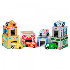 Melissa & Doug Nesting & Sorting Toys - Buildings & Vehicles Clearance Sale