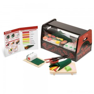 Melissa & Doug Roll, Wrap & Slice Sushi Counter Clearance Sale