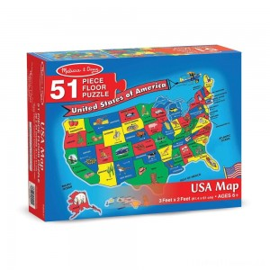 Melissa And Doug Usa Map Floor Puzzle 51pc Clearance Sale