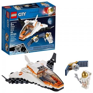 LEGO City Space Satellite Service Mission 60224 Space Shuttle Toy Building Set 84pc Clearance Sale