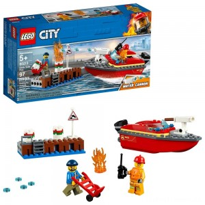 LEGO City Dock Side Fire 60213 Clearance Sale