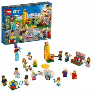 LEGO City People Pack - Fun Fair 60234 Toy Fair Building Set with Ice Cream Cart 183pc Clearance Sale