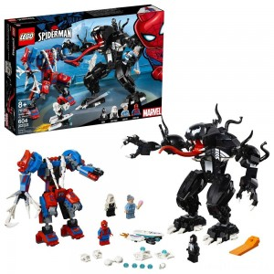 LEGO Marvel Spider Mech Vs. Venom Ghost Spider Superhero Playset with Web Shooter 76115 Clearance Sale
