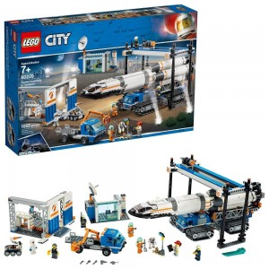 LEGO City Space Rocket Assembly & Transport 60229 Model Rocket Building Set with Toy Crane 1055pc Clearance Sale