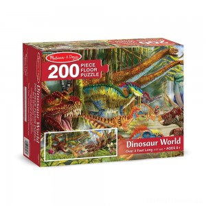 Melissa And Doug Dinosaur World Jumbo Floor Puzzle 200pc Clearance Sale