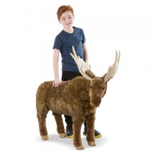 Melissa & Doug Moose Plush Toy Clearance Sale