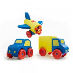 Melissa & Doug Deluxe Wooden First Vehicles Set With Truck, Car, and Airplane Clearance Sale