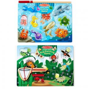 Melissa & Doug Magnetic Wooden Puzzle Game Set: Fishing and Bug Catching Clearance Sale