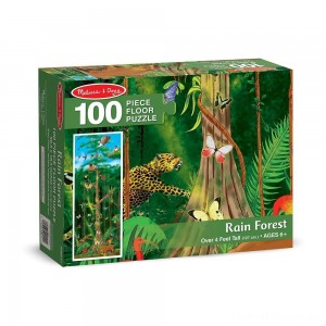 Melissa & Doug Rainforest Jumbo Jigsaw Floor Puzzle 100pc Clearance Sale