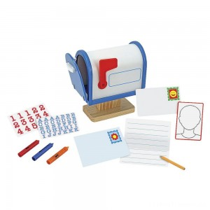 Melissa & Doug My Own Wooden Mailbox Activity Set and Educational Toy Clearance Sale