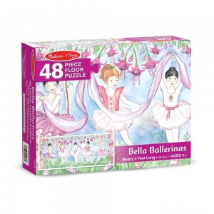 Melissa & Doug Bella Ballerina Jumbo Jigsaw Floor Puzzle 48pc Clearance Sale