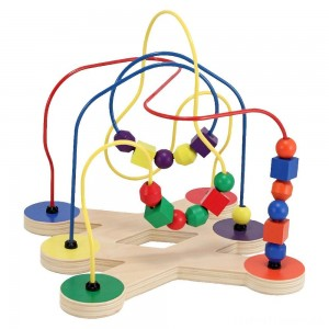 Melissa & Doug Classic Bead Maze - Wooden Educational Toy Clearance Sale