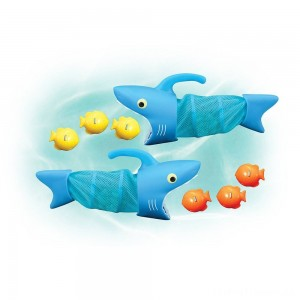 Melissa & Doug Sunny Patch Spark Shark Fish Hunt Pool Game With 2 Nets and 6 Fish to Catch Clearance Sale